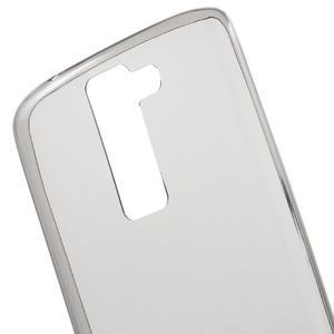 Ultratenký gelový obal na mobil LG K8 - šedý - 4