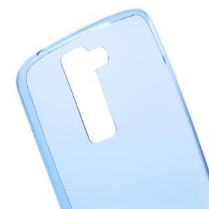 Ultratenký gelový obal na mobil LG K8 - modrý - 4