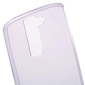Ultratenký gelový obal na mobil LG K8 - fialový - 4