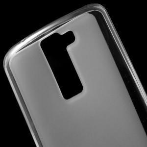 Matný gelový obal na mobil LG K8 - transparentní - 4