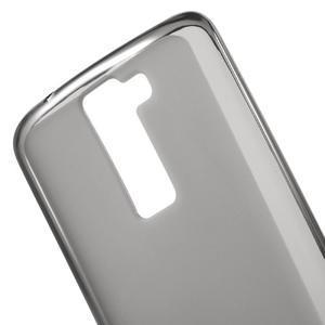 Matný gelový obal na mobil LG K8 - šedý - 4