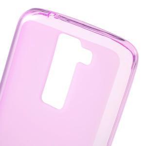 Matný gelový obal na mobil LG K8 - růžový - 4