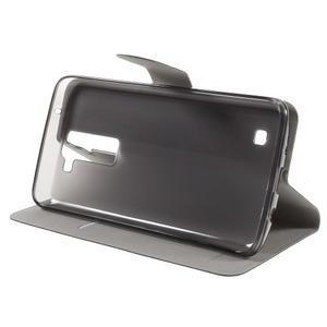 Horse PU kožené pouzdro na mobil LG K8 - černé - 4