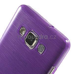 Broušený gelový obal Samsung Galaxy A5 - fialový - 4