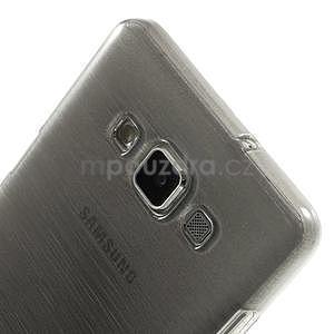 Broušený gelový obal Samsung Galaxy A5 - šedý - 4