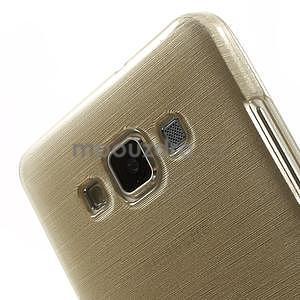 Broušený gelový obal Samsung Galaxy A5 - chamapgne - 4