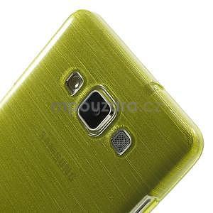 Broušený gelový obal Samsung Galaxy A5 - zelený - 4