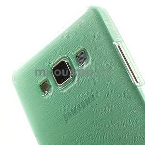 Broušený gelový obal Samsung Galaxy A5 - cyan - 4
