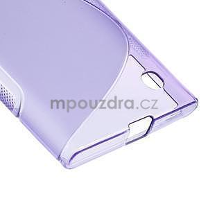 Gelový s-line obal na Nokia Lumia 730 a Lumia 735 - fialový - 4