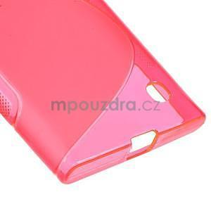 Gelový s-line obal na Nokia Lumia 730 a Lumia 735 - růžový - 4