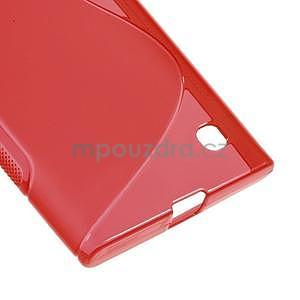 Gelový s-line obal na Nokia Lumia 730 a Lumia 735 - červený - 4