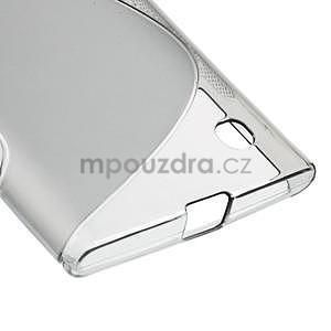 Gelový s-line obal na Nokia Lumia 730 a Lumia 735 - šedý - 4