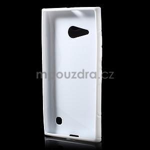 Gelový s-line obal na Nokia Lumia 730 a Lumia 735 - bílý - 4