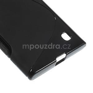 Gelový s-line obal na Nokia Lumia 730 a Lumia 735 - černý - 4
