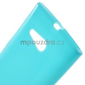 Gelový obal na Nokia Lumia 730 a Lumia 735 - tyrkysový - 4