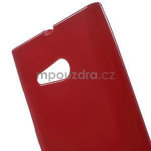 Gelový obal na Nokia Lumia 730 a Lumia 735 - červený - 4