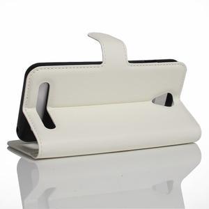 Wallet PU kožené klopové pouzdro na Acer Liquid Z6 - bílé - 4