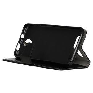 Crazy PU kožené pouzdro na mobil Acer Liquid Z6 - černé - 4