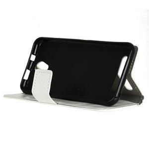 Lethy PU kožené pouzdro na mobil Acer Liquid Z6 - bílé - 4