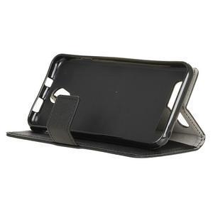 Standy PU kožené pouzdro na Acer Liquid Z6 - černé - 4