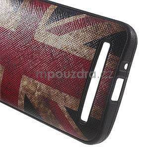 Gelový obal s imitací vroubkované kůže na Asus Zenfone 2 ZE500CL - vlajka UK - 4