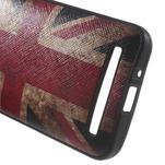Gelový obal s imitací vroubkované kůže na Asus Zenfone 2 ZE500CL - vlajka UK - 4/5