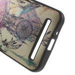 Gelový obal s imitací vroubkované kůže na Asus Zenfone 2 ZE500CL - dream - 4/5