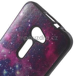 Gelový obal s imitací vroubkované kůže na Asus Zenfone 2 ZE500CL - galaxy - 4