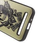 Gelový obal s imitací vroubkované kůže na Asus Zenfone 2 ZE500CL - pistolník - 4/5