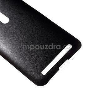 Gelový kryt s imitací kůže Asus Zenfone 2 ZE500CL - černý - 4