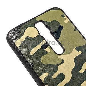 Gelový kryt s imitací vroubkované kůže pro Asus Zenfone 2 ZE551ML - vojenský - 4