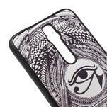 Gelový kryt s imitací vroubkované kůže pro Asus Zenfone 2 ZE551ML - egyptské oko - 4/5