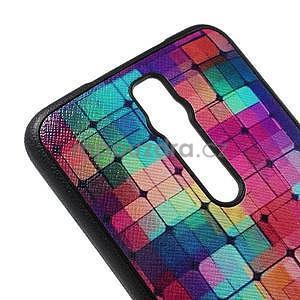 Gelový kryt s imitací vroubkované kůže pro Asus Zenfone 2 ZE551ML - mozaika barev - 4