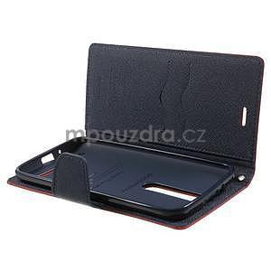 Zapínací PU kožené pouzdro na Asus Zenfone 2 ZE551ML - červené - 4