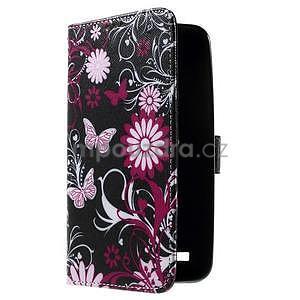 Zapínací peněženkové pouzdro na Asus Zenfone 2 ZE551ML - motýlci - 4