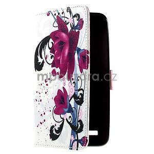 Zapínací peněženkové pouzdro na Asus Zenfone 2 ZE551ML - květiny - 4