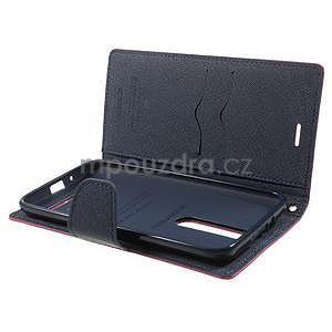 Zapínací PU kožené pouzdro na Asus Zenfone 2 ZE551ML - rose - 4