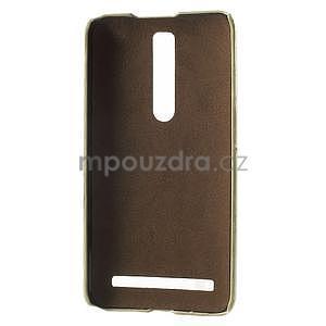 Champagne PU kožený/plastový kryt na Asus Zenfone 2 ZE551ML - 4