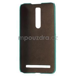 Azurový PU kožený/plastový kryt na Asus Zenfone 2 ZE551ML - 4