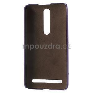 Fialový PU kožený/plastový kryt na Asus Zenfone 2 ZE551ML - 4