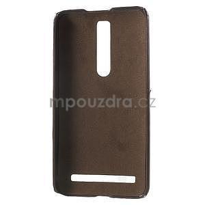 Hnědý PU kožený/plastový kryt na Asus Zenfone 2 ZE551ML - 4