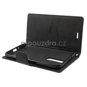 Zapínací PU kožené pouzdro na Asus Zenfone 2 ZE551ML - černé - 4