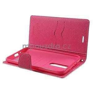Zapínací PU kožené pouzdro na Asus Zenfone 2 ZE551ML - růžové - 4