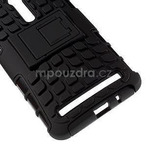 Vysoce odolný gelový kryt se stojánkem pro Asus Zenfone 2 ZE551ML - černý - 4