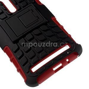 Vysoce odolný gelový kryt se stojánkem pro Asus Zenefone 2 ZE551ML - červený - 4