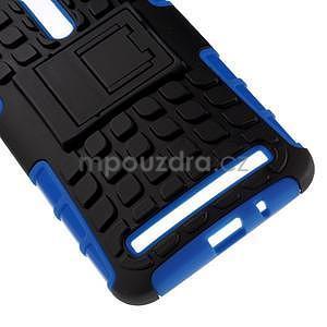 Vysoce odolný gelový kryt se stojánkem pro Asus Zenefone 2 ZE551ML - modrý - 4