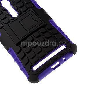 Vysoce odolný gelový kryt se stojánkem pro Asus Zenfone 2 ZE551ML - fialový - 4