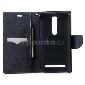 Zapínací PU kožené pouzdro na Asus Zenfone 2 ZE551ML - zelené - 4