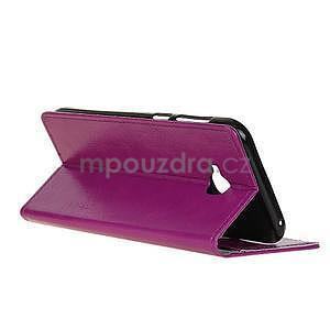 Crazy PU kožené pouzdro na mobil Asus Zenfone 4 Selfie Pro ZD552KL - fialové - 4