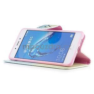 Emotive peněženkové pouzdro na mobil Huawei Nova Smart - peříčko - 4